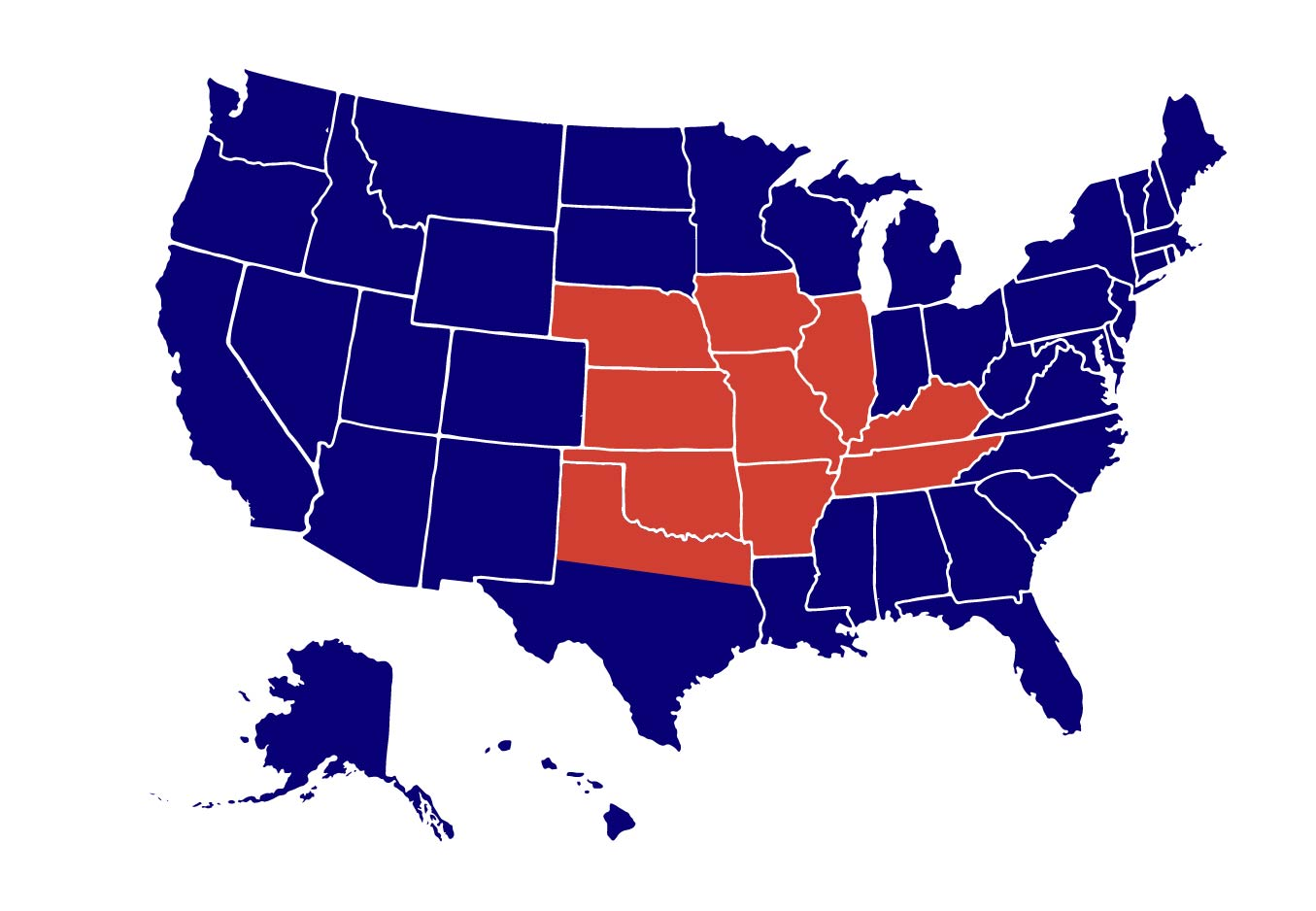 Midwest States that Superior Serves